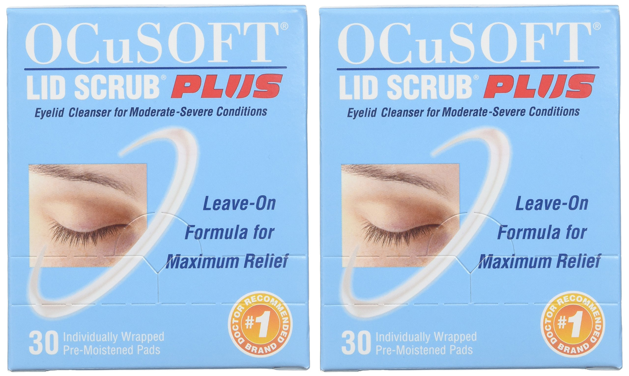 OCuSOFT Lid Scrub Plus, Pre-Moistened Pads, Individually Wrapped, 30 Pads (Pack of 2) by OCuSOFT (Image #2)