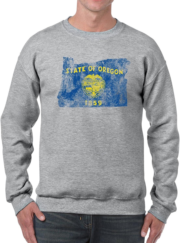 UGP Campus Apparel Distressed State Flag Outline Crewneck Sweatshirt