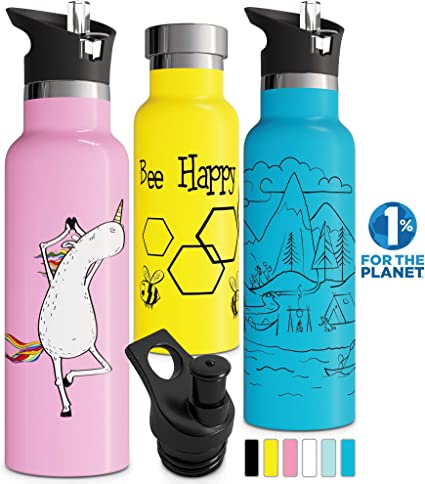 Animal Printed Water Bottle Kids Colorful Drinking Cup School Outdoor Bottles