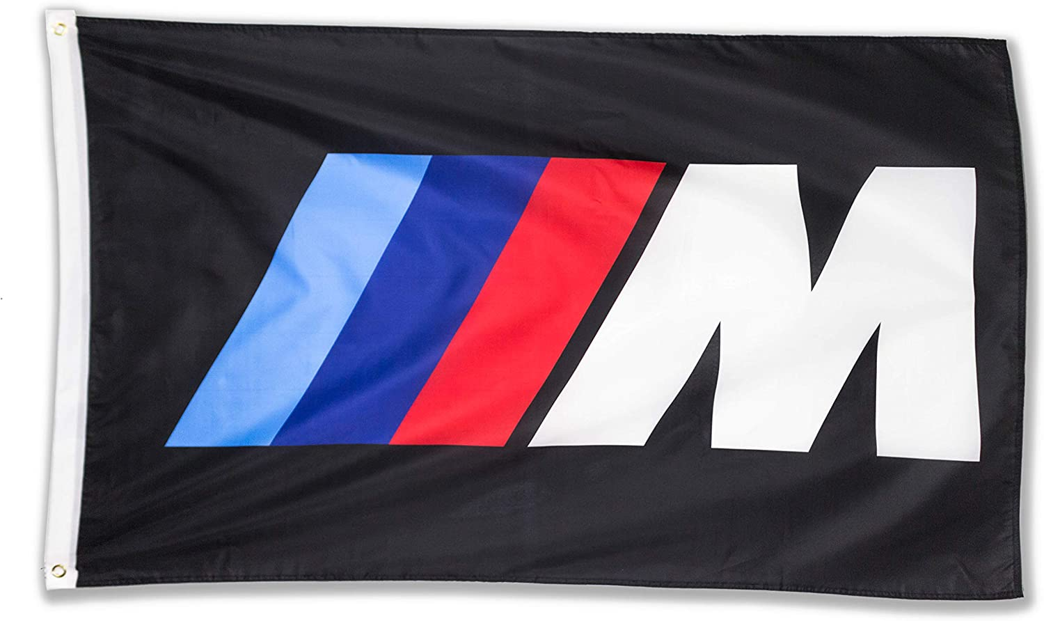 WHGJ Car Flag 3x5 FT Fade Resistant for BMW M Logo IIIM Racing Car 150D Quality Thicker Large Garage Decor Banner