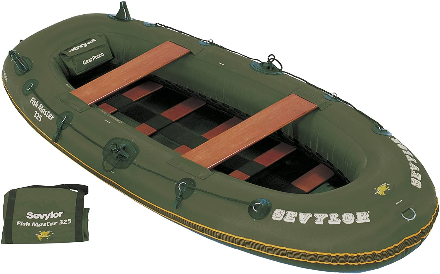 Amazon.com: Sevylor pescado Master 325 Barco Inflable con 2 ...