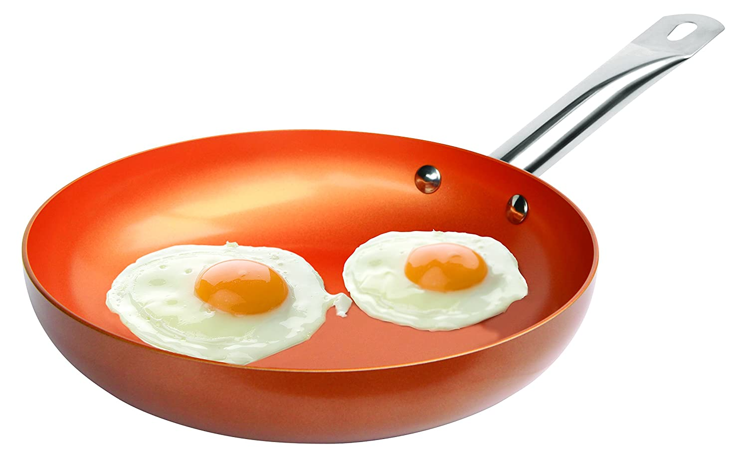 Non-stick Copper Frying Pan with Ceramic Coating, 9.5 Inches By