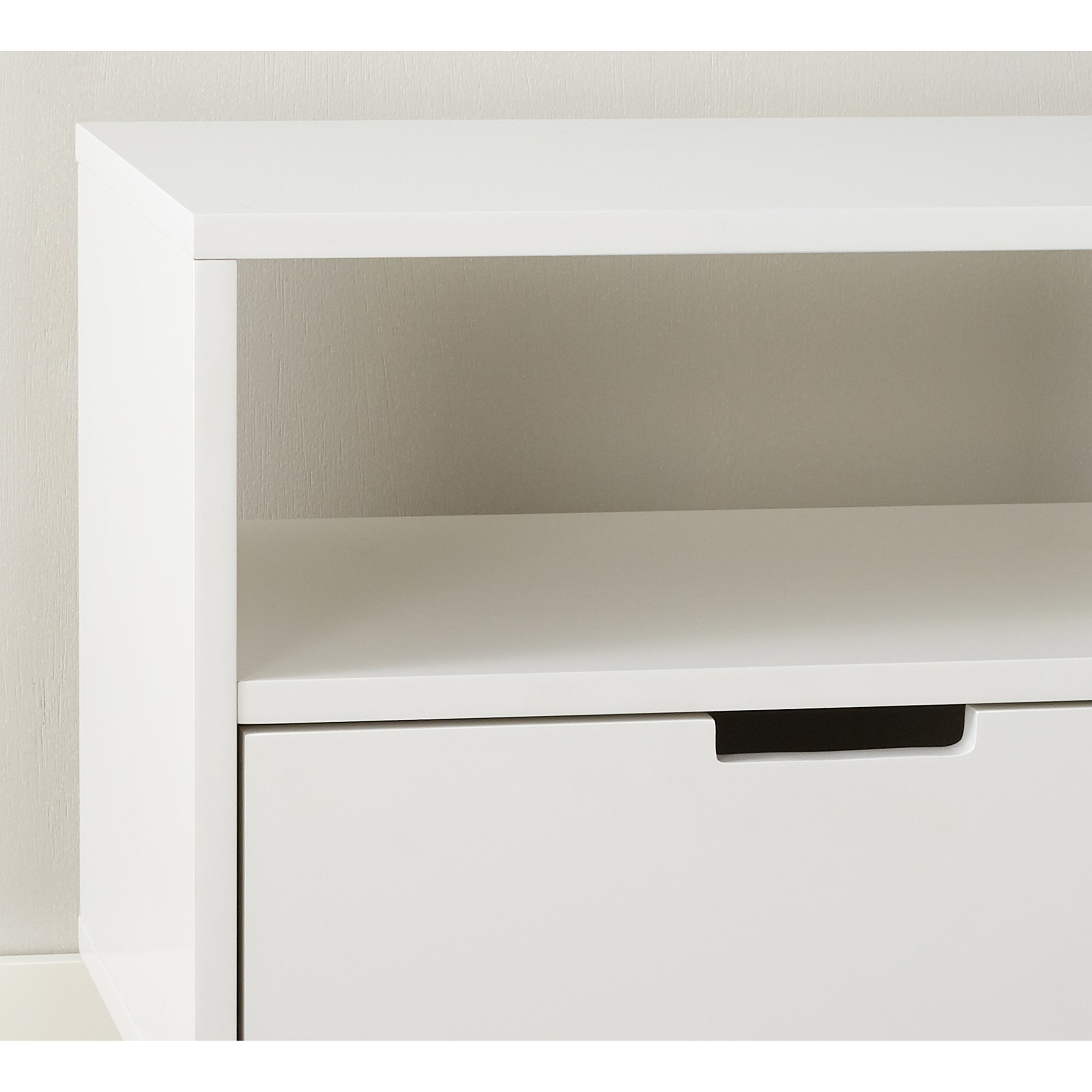 Better Homes and Gardens Flynn Mid Century Modern Credenza, White by Better Homes and Gardens (Image #4)