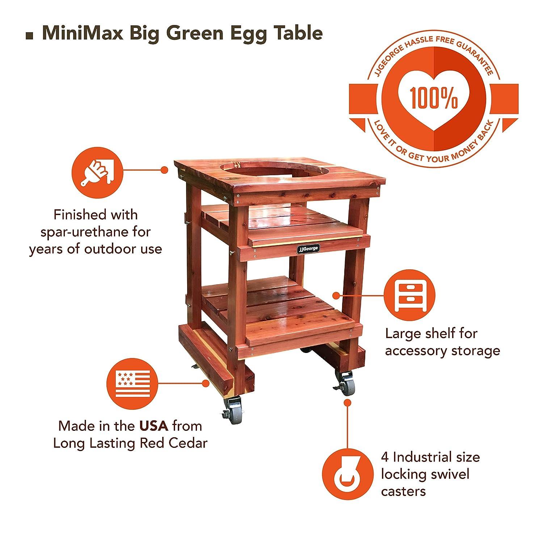 JJ George MiniMax Big Green Egg Table