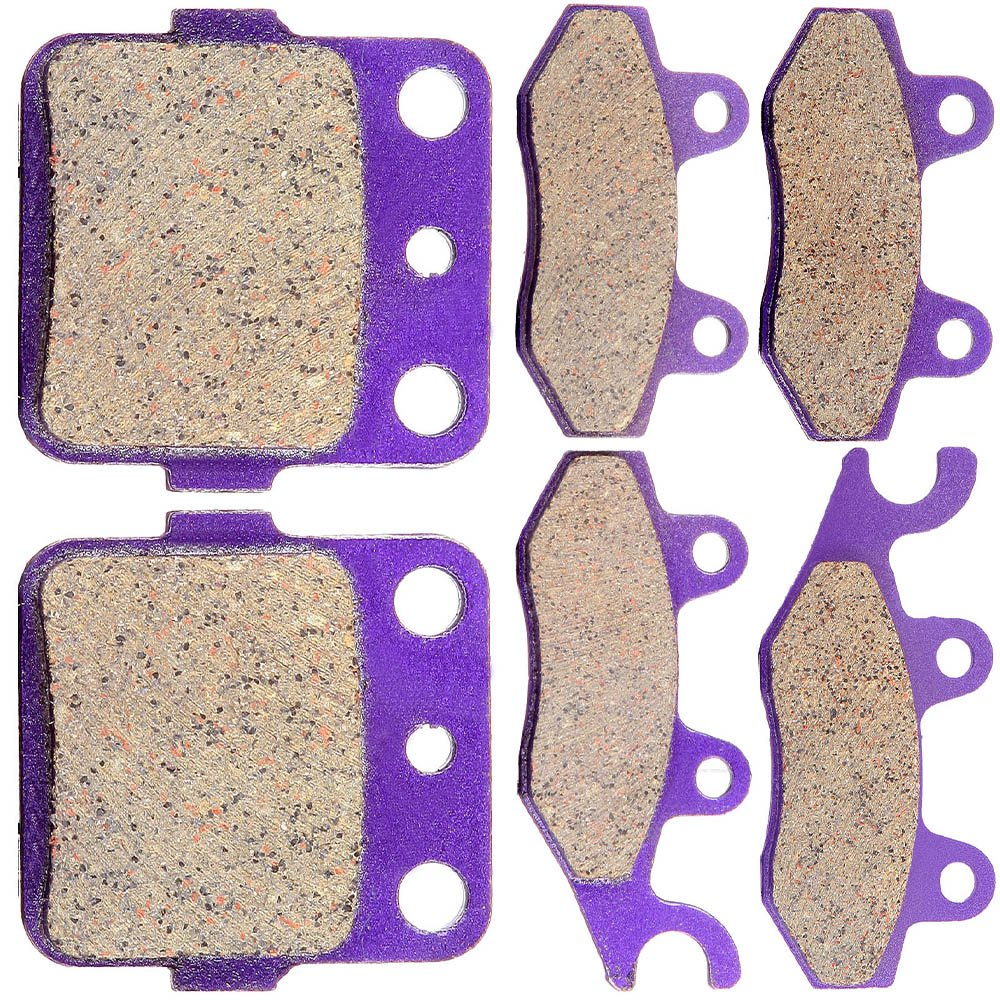 Scitoo Front and Rear Kevlar Carton Brake Pads Fit 04 05 Yamaha YFZ450 S//T