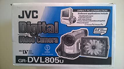 amazon com jvc grdvl805u minidv digital camcorder with built in rh amazon com JVC Mini DV Digital Camcorder JVC Camcorder