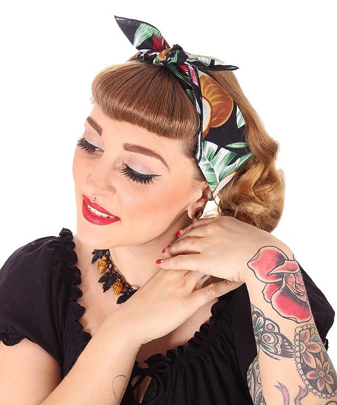 Sugarshock Damen Frisuren Haar Tuch Hawaii Farbe Schwarz Grosse