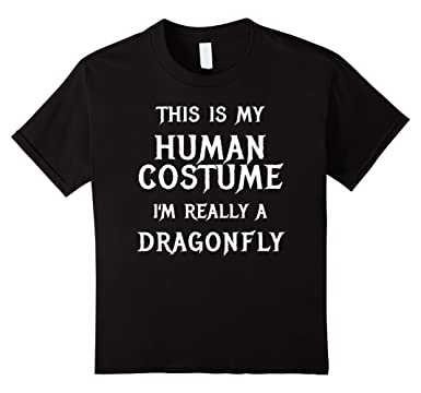 Kids Dragonfly Halloween Costume Shirt Easy Funny for Kids Adults 6 Black  sc 1 st  Amazon.com & Amazon.com: Kids Dragonfly Halloween Costume Shirt Easy Funny for ...