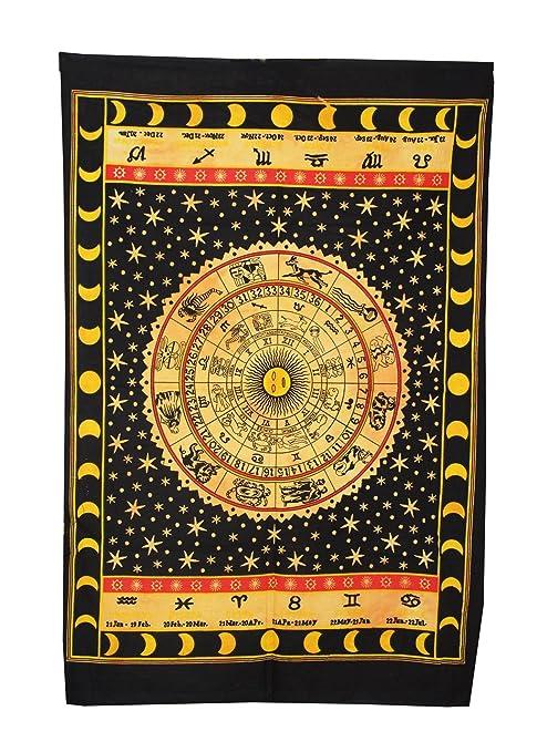 Amazon.com: Horoscopio Tapiz Zodiaco Astrología Colgante de ...