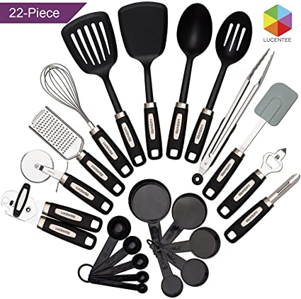 utensils cooking steel com dp pieces ac cookware set silicone nonstick kitchen colorful amazon stainless utensil tools