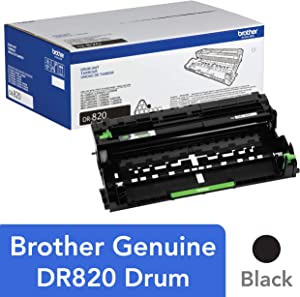 Brother Genuine Drum Unit, DR820, Seamless Integration, Yields Up to 30,000 Pages, Black