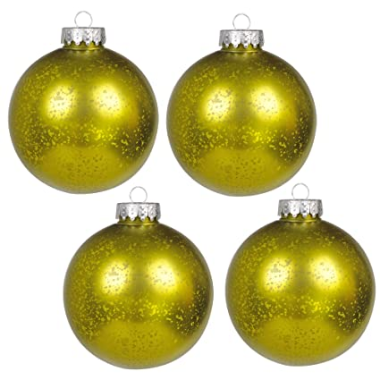 ki store christmas mercury ball ornaments outdoor hanging tree decorations large shatterproof shinny vintage balls set - Large Outdoor Wall Christmas Decorations