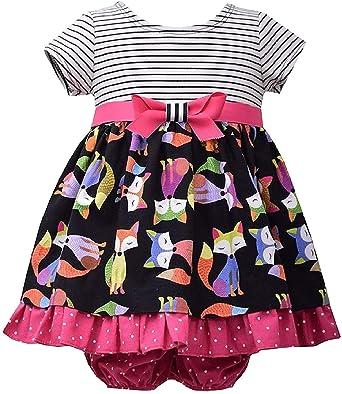 Amazon.com: Bebé Girls infant Stripe Knit para Fox Imprimir ...