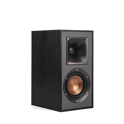 Klipsch R 41M Powerful Detailed Bookshelf Home Speaker Set Of 2 Black
