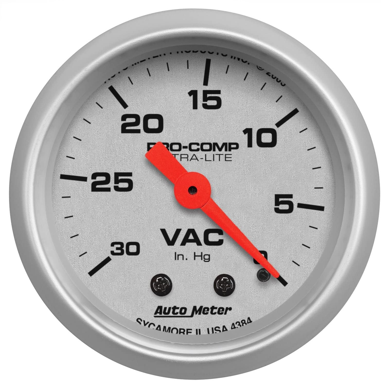 Auto Meter 4384 Ultra-Lite Mechanical Vacuum Gauge