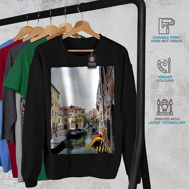 wellcoda Old Venice Canal Tour Mens Sweatshirt Italy Casual Jumper