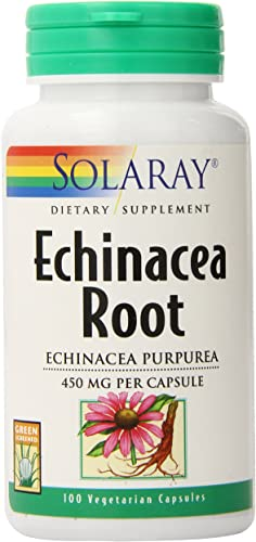 Solaray Echinacea Purpurea Root Capsules, 450 mg, 100 Count