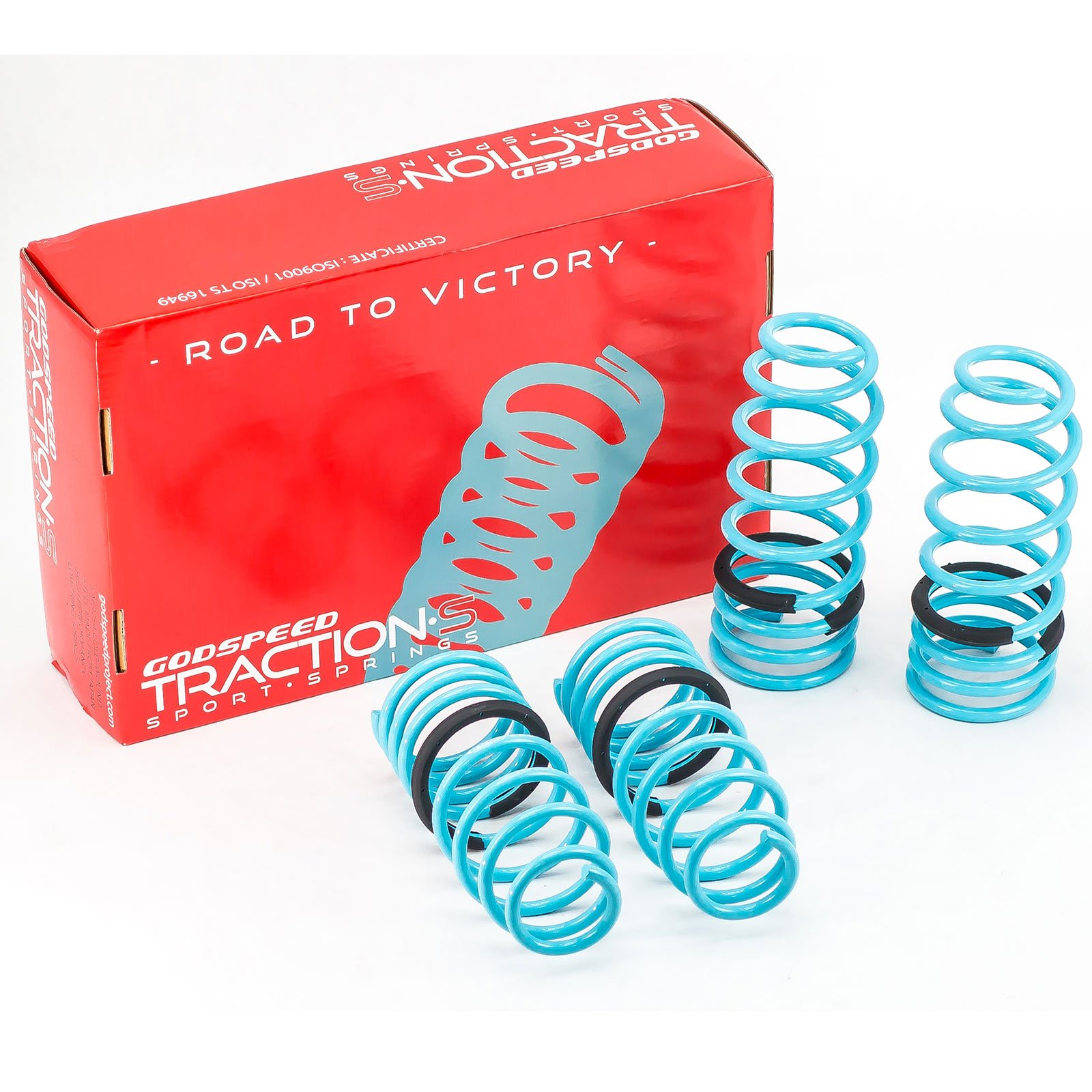 Godspeed(LS-TS-MA-0006) Traction-S Performance Lowering Springs, Set of 4, Mazda RX-8 2004-2011(SE3P) by Godspeed