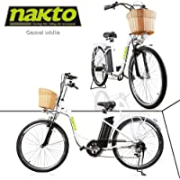 """NAKTO Adult Electric Bicycles 26"""" Electric Bikes for 36V/10Ah/12Ah Ebikes"""