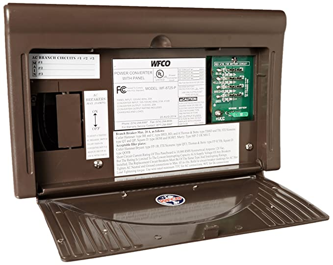 WFCO WF8725P Brown 25 Amps Power Center on