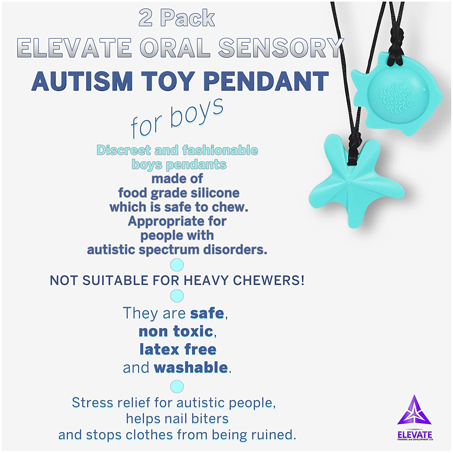 Elevate Chewing Necklace Oral Sensory Toy 2 pack Amazon