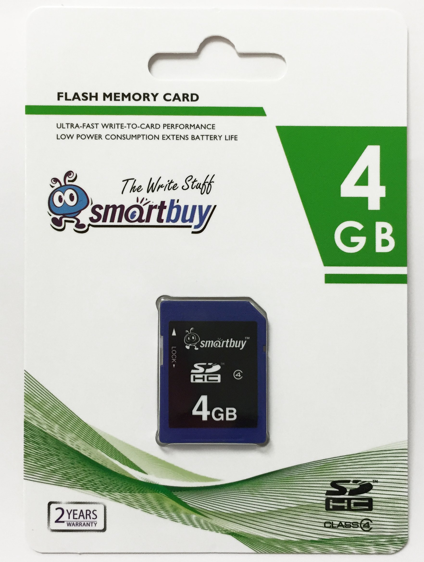 Smart Buy SDHC Class 4 Flash Memory Card SD HC Secure Digital C4 Fast Speed for Camera (4GB (10-Pack))