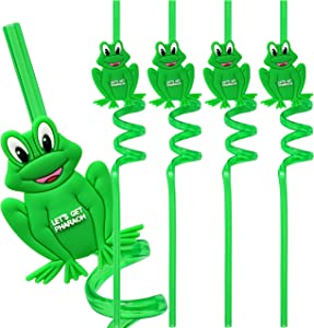 Passover Frog Straws Passover Toys Reuseable Passover Decor For Your Passover Seder Table (Pack of 4)