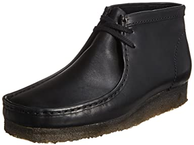 Wallabee Boot: Black Leather