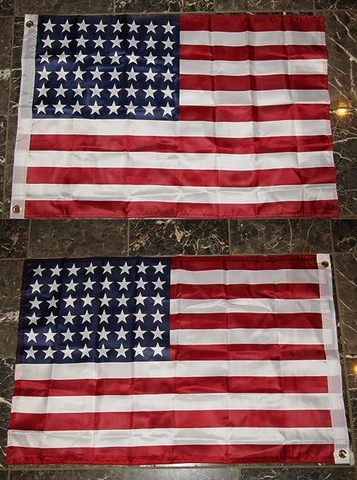 bbe9ca0a01fb 2X3 Historic USA American U.S. 48 Star 2 Faced 2-ply Super Polyester Nylon  Flag