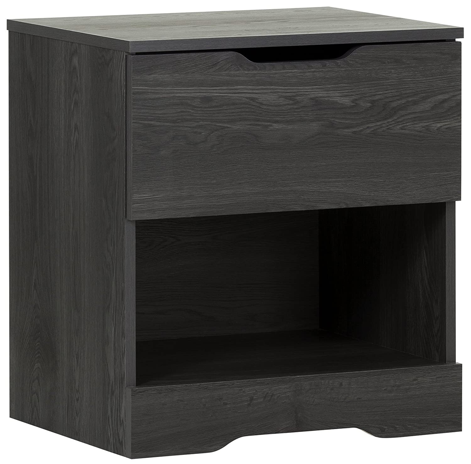 Amazon.com: South Shore Trinity 1-Drawer Nightstand, Gray Oak with Cut-Out  Handles: Kitchen & Dining