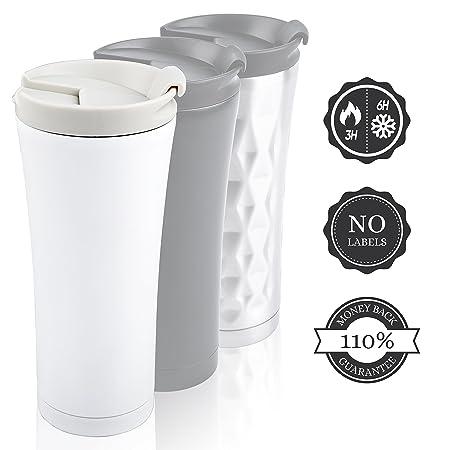 Taza termo te & cafe 0.45L (450 ml) a prueba de fugas. Aislante ...