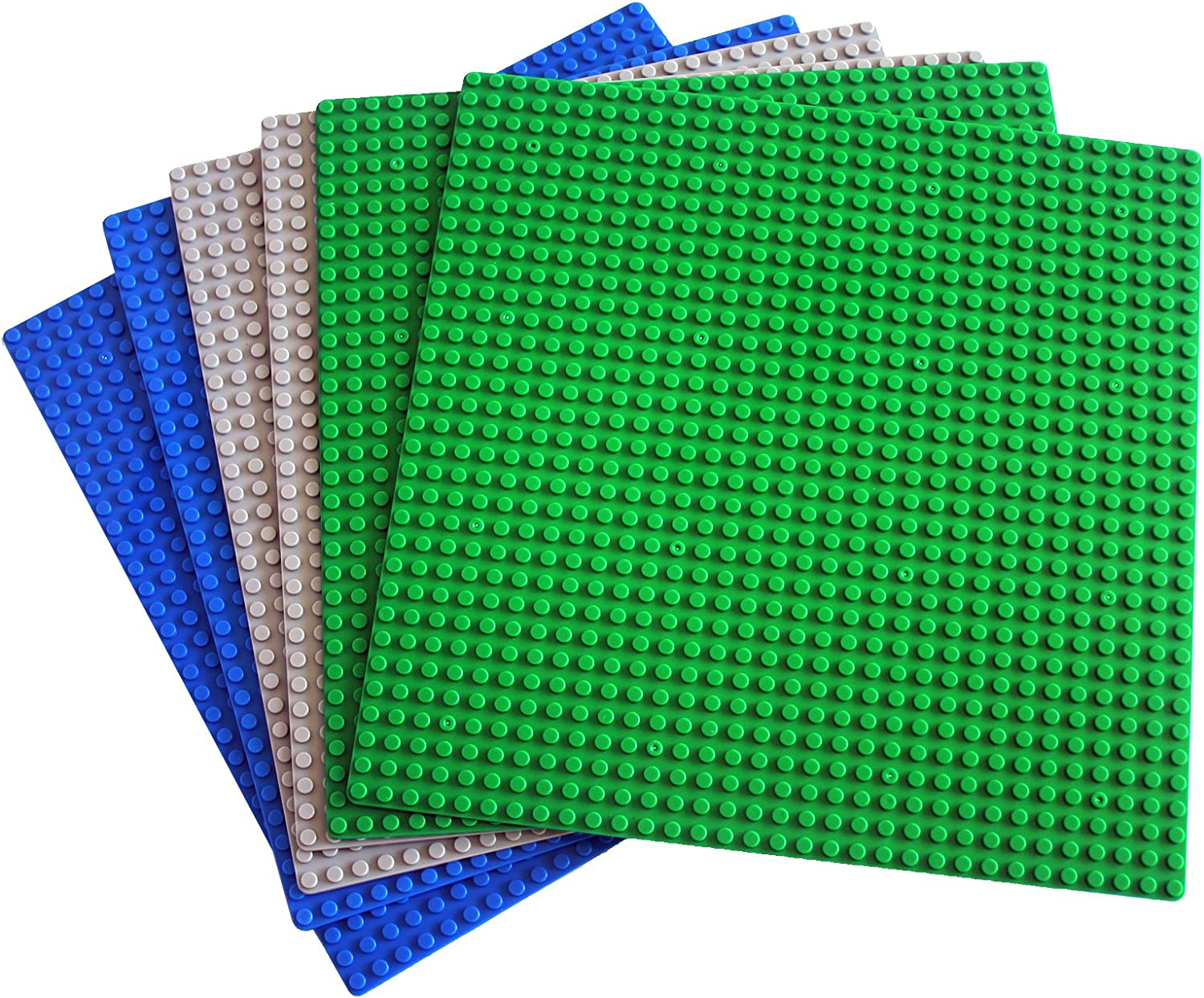 """dreambuilderToy Classic Building Base Plates 32x32 pegs or 10"""" x 10"""" Baseplate - Compatible with All Major Brands (6PC)"""