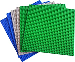 "dreambuilderToy Classic Building Base Plates 32x32 pegs or 10"" x 10"" Baseplate - Compatible with All Major Brands (6PC)"