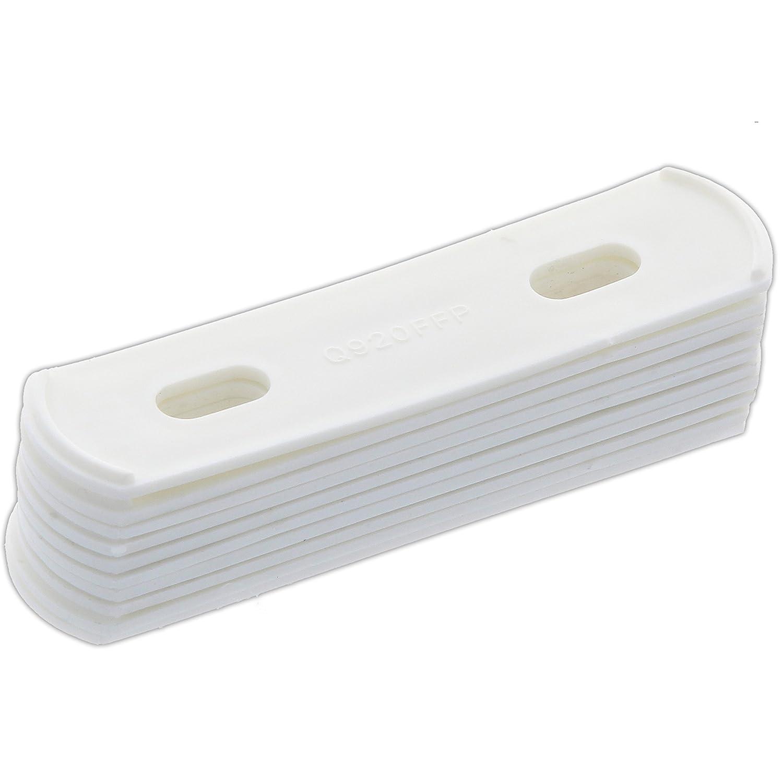 10x White Sash Jammer Packer 2mm Thick Stackable Window Lock Lifter Height Raiser White Hinge