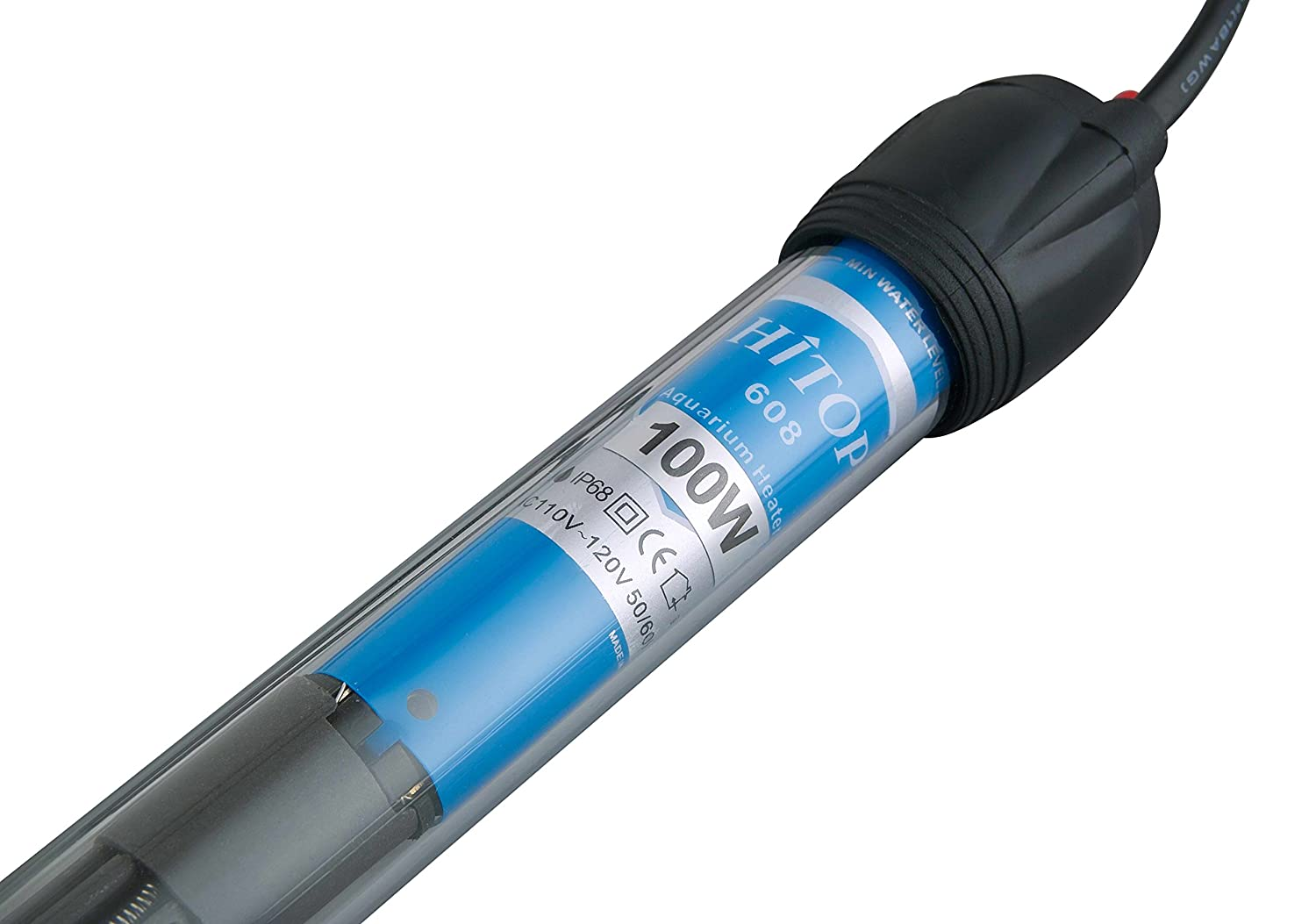 HITOP HP-608 Submersible Aquarium Heater 50W 100W 300W with Thermometer and Extra Sucker Cup Haisen