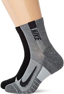 Nike U NK MLTPLIER Ankle 2PR Socks, Unisex Adulto, L