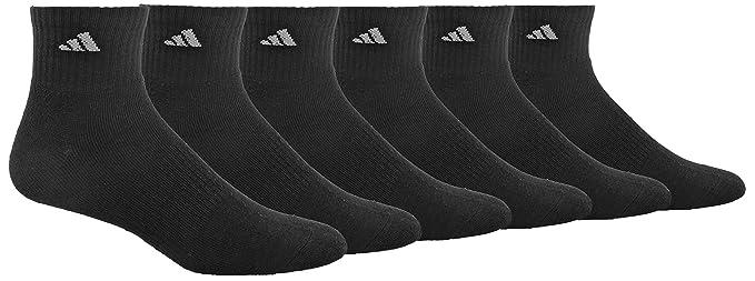 adidas Mens Athletic Quarter Sock (6-Pack)