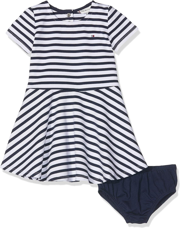 Tommy Hilfiger Baby-M/ädchen Essential Stripe Skater Dress Kleid