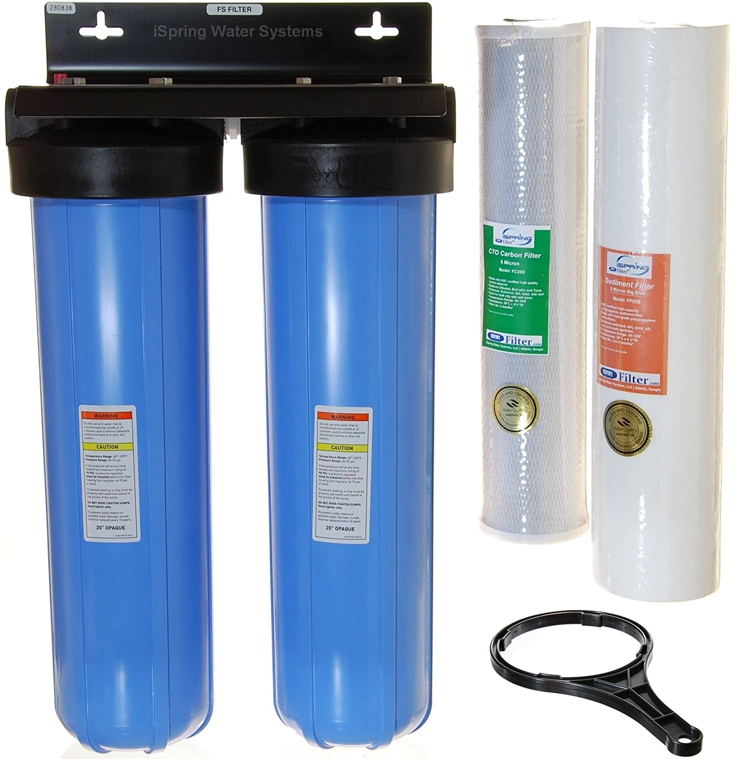 Whole House Water Sediment Filter Amazoncom Ispring Wcb22b 2 Stage Whole House Water Filtration