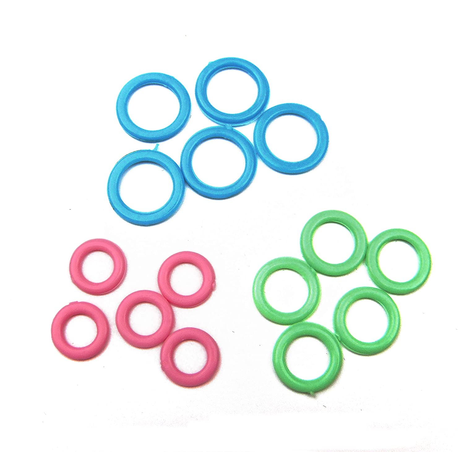 Mixed Size-60pcs ALL in ONE Colorful Stitch Marker Rings Mixed 3 Sizes for Knitting DIY Craft