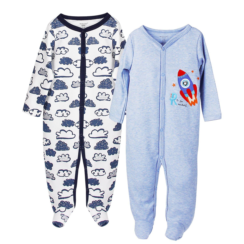 2er Pack Care Baby-Jungen Schlafstrampler