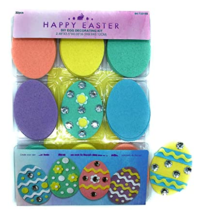 Amazon Com Easter Egg Decorating Diy Craft Kit For Kids Or Adults