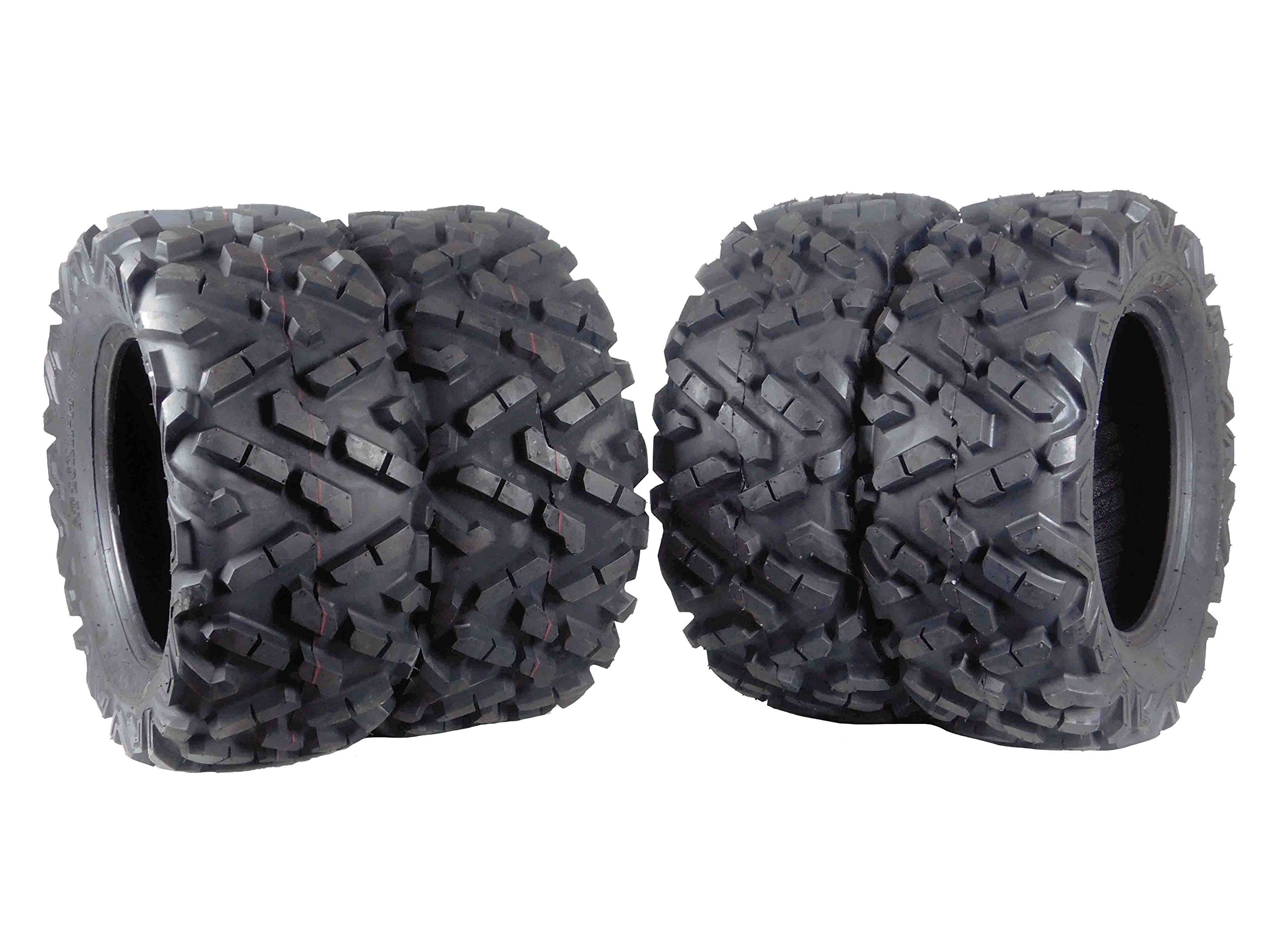 MASSFX 4 Set 26x11-14 Rear 26x9-14 Front ATV Tire Durable 6 Ply 1/2'' Tread Depth (4)