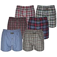 MAS International Pack of 3, 6, 9% 12 Knocker Men's Check Boxer Shorts Pants Polly Cotton Underwear Trunks Briefs by Ltd