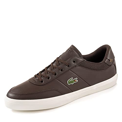 6731b08dae5f86 Lacoste Court Master 118 2 Cam Dark Brown Off White 44  Amazon.co.uk  Shoes    Bags