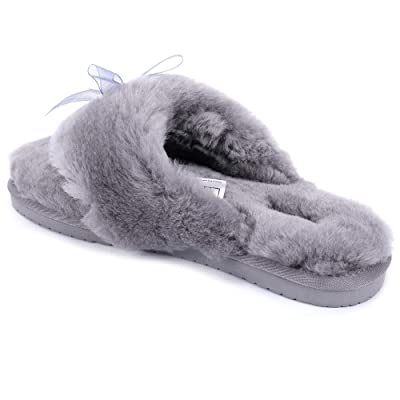 Amazon.com | AIOMELY Women's Slippers are Very Warm and Soft Not Shedding EVA Non-Slip Anti-Freeze Pure Women Wool flip-Flops | Slippers