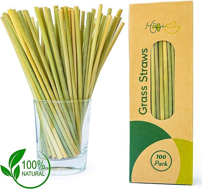 Pajitas de césped 100% orgánicas de alta calidad, paquete grande ...