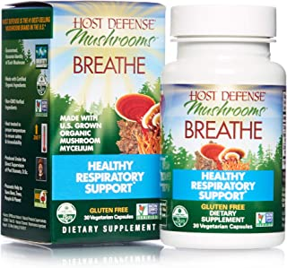 product image for Host Defense, Breathe, 30 Capsules, Respiratory Support, Mushroom Supplement with Cordyceps, Reishi and Chaga, Vegan, Organic, 15 Servings