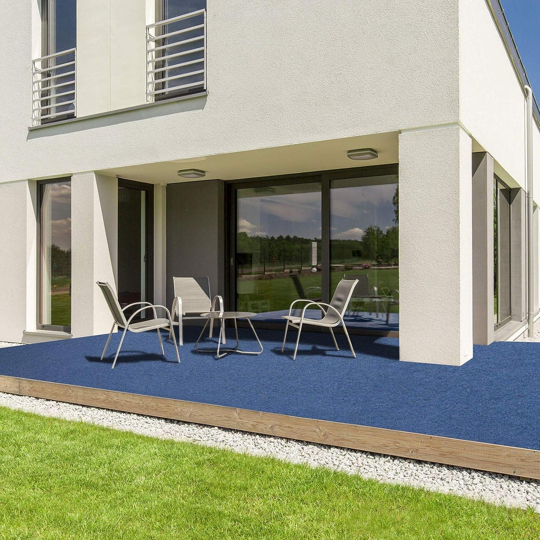 Blau, 200x150 cm wetterfest /& schnelltrocknend Balkon und Freizeit Rasenteppich f/ür Terrasse casa pura/® Komfort Kunstrasen mit Noppen Meterware