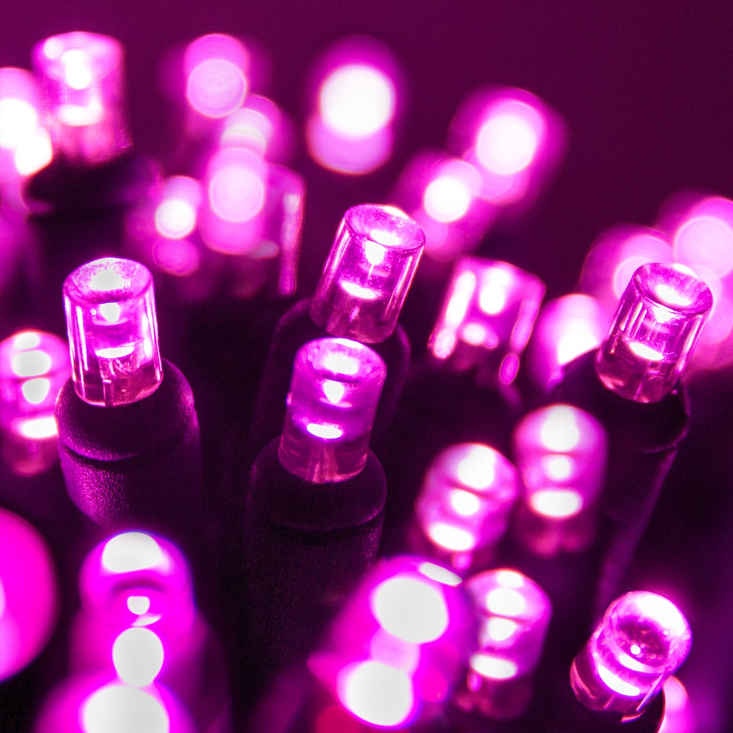 Pink Christmas Lights.5mm Led Wide Angle Pink Prelamped Light Set Green Wire 70 5mm Pink Led Christmas Lights 4 Spacing